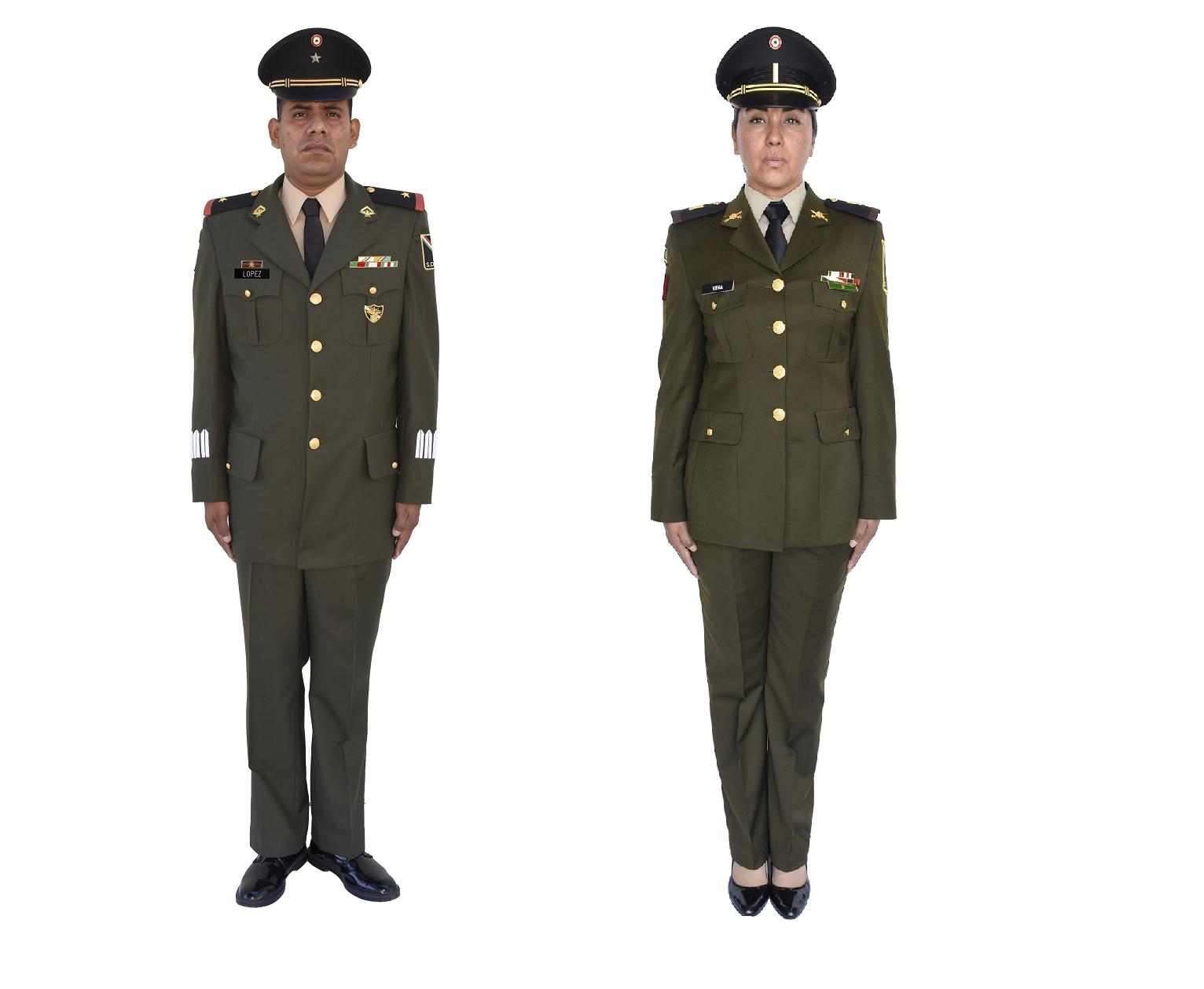 Uniformes para Generales, Jefes, Oficiales y Tropa ...