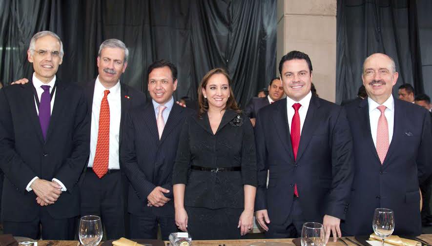 FOTO 1 Embajador Juli n Ventura  Francisco Gonz lez  Canciller Claudia Ruiz Massieu  Gobernador Arist teles Sandoval y el Embajador Carlos de Icaza.jpg
