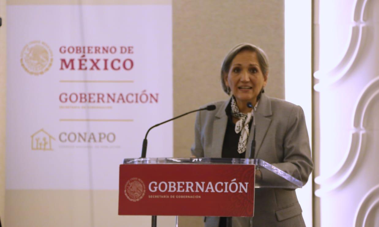 Secretaria General del Consejo Nacional de Población, Gabriela Rodríguez Ramírez.
