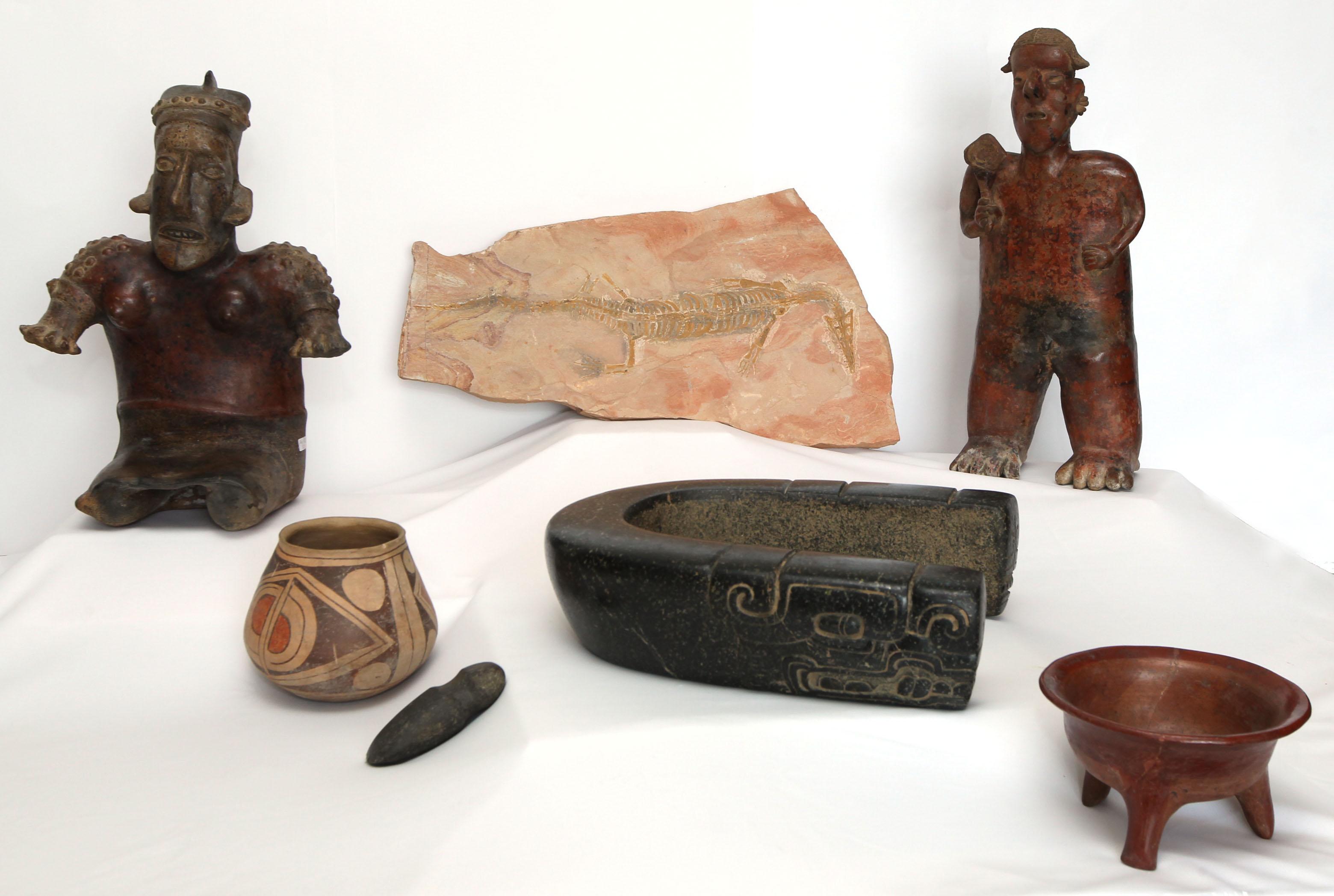 FOTO 5 M xico recupera piezas arqueol gicas y un f sil tras repatriaciones desde seis pa sesjpg