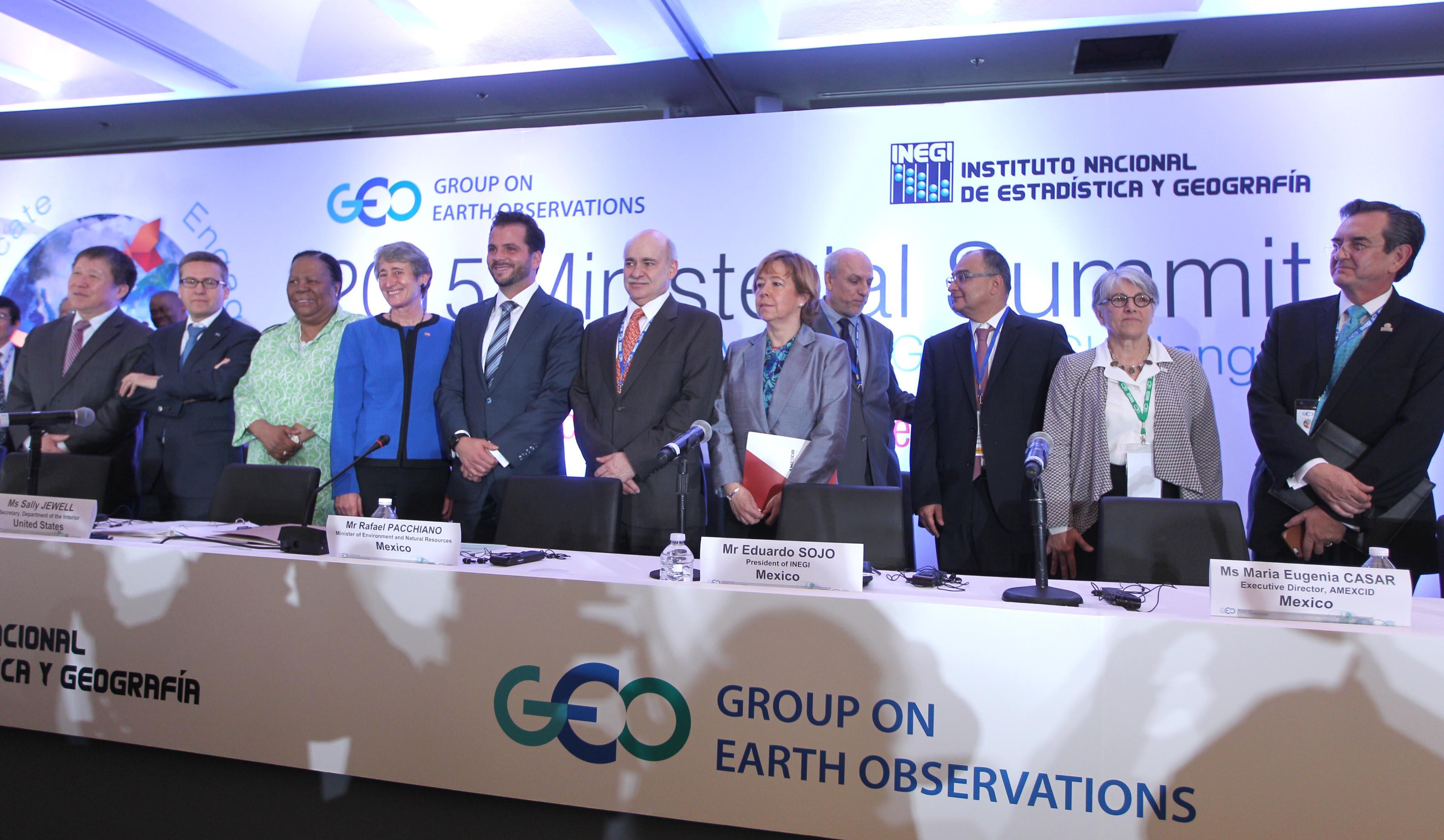 FOTO 2 Inauguraci n de la Cumbre Ministerial 2015 del Grupo de Observadores de la Tierrajpg