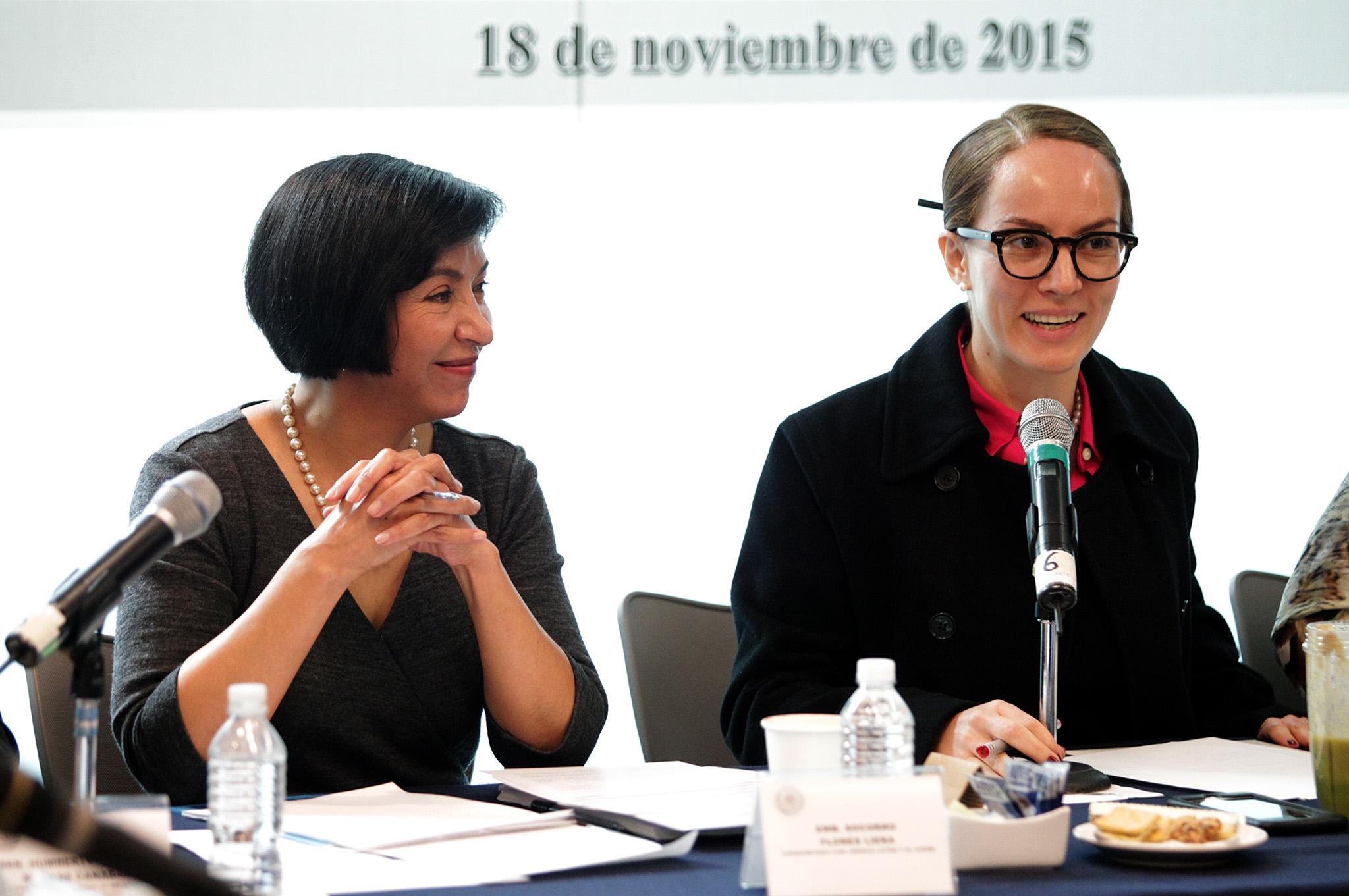 FOTO 1 Subsecretaria para Am rica Latina y el Caribe  Embajadora Socorro Flores Liera  compareci  ante las Comisiones Unidas de Relaciones Exteriores del Senadojpg