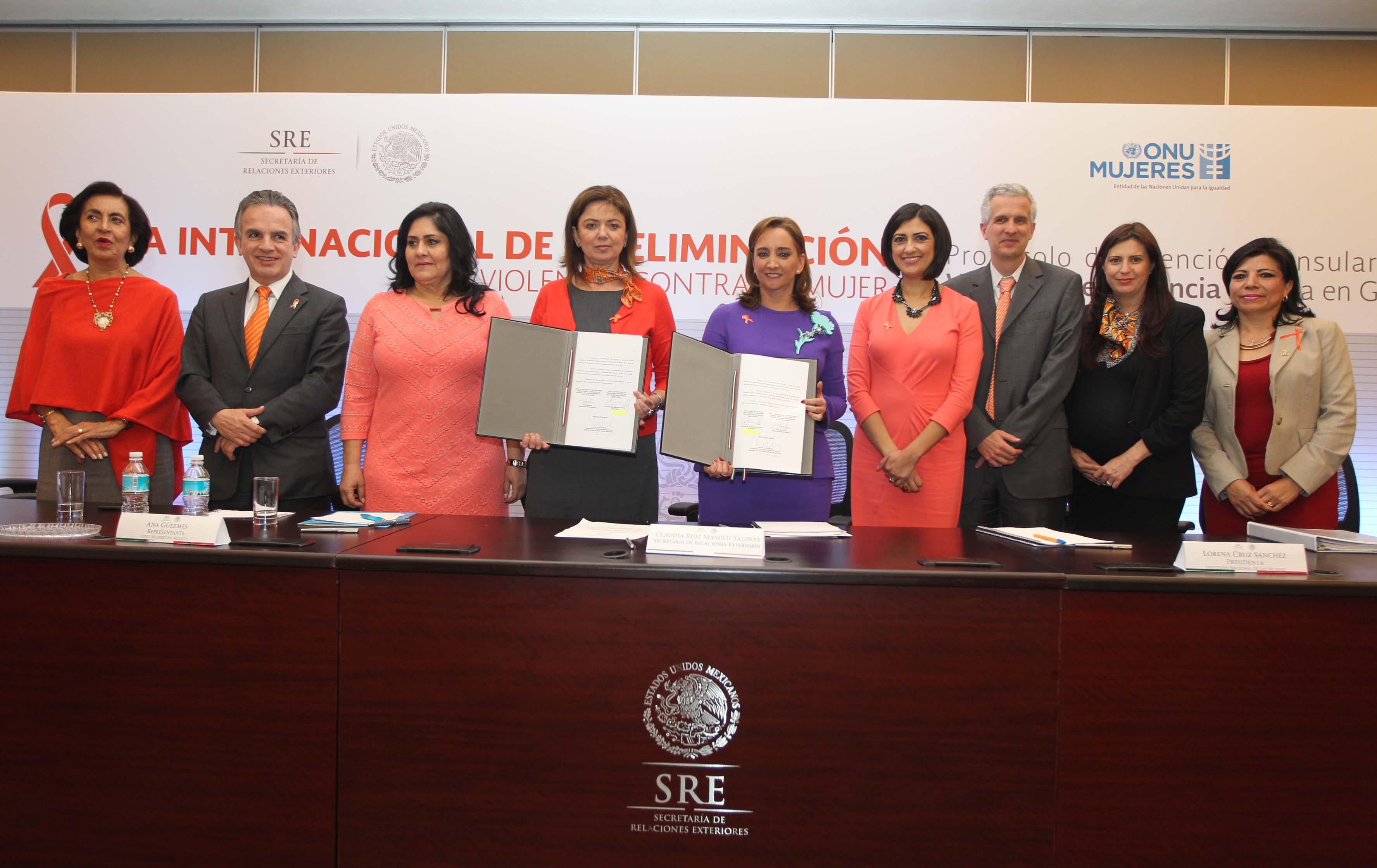 FOTO 1 M xico y ONU Mujeres refrendan su colaboraci n para eliminar la violencia de g nerojpg