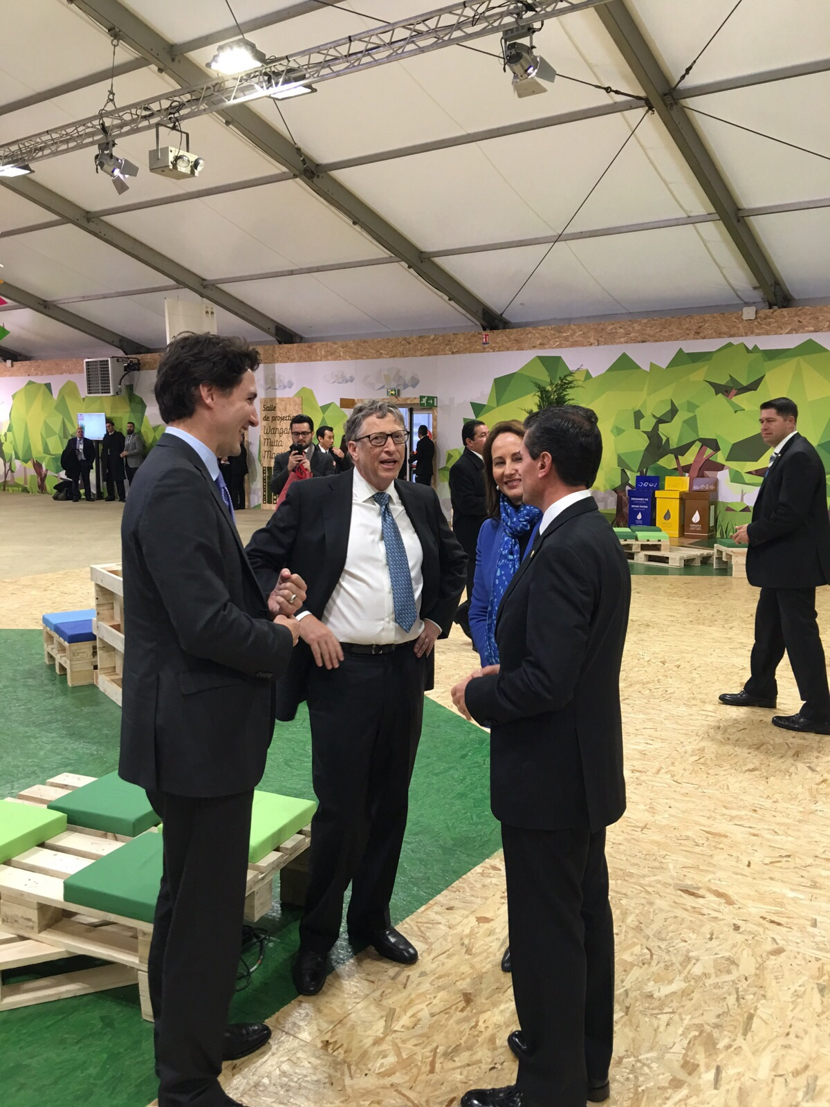 EPN Canad  BillGates COP21jpg