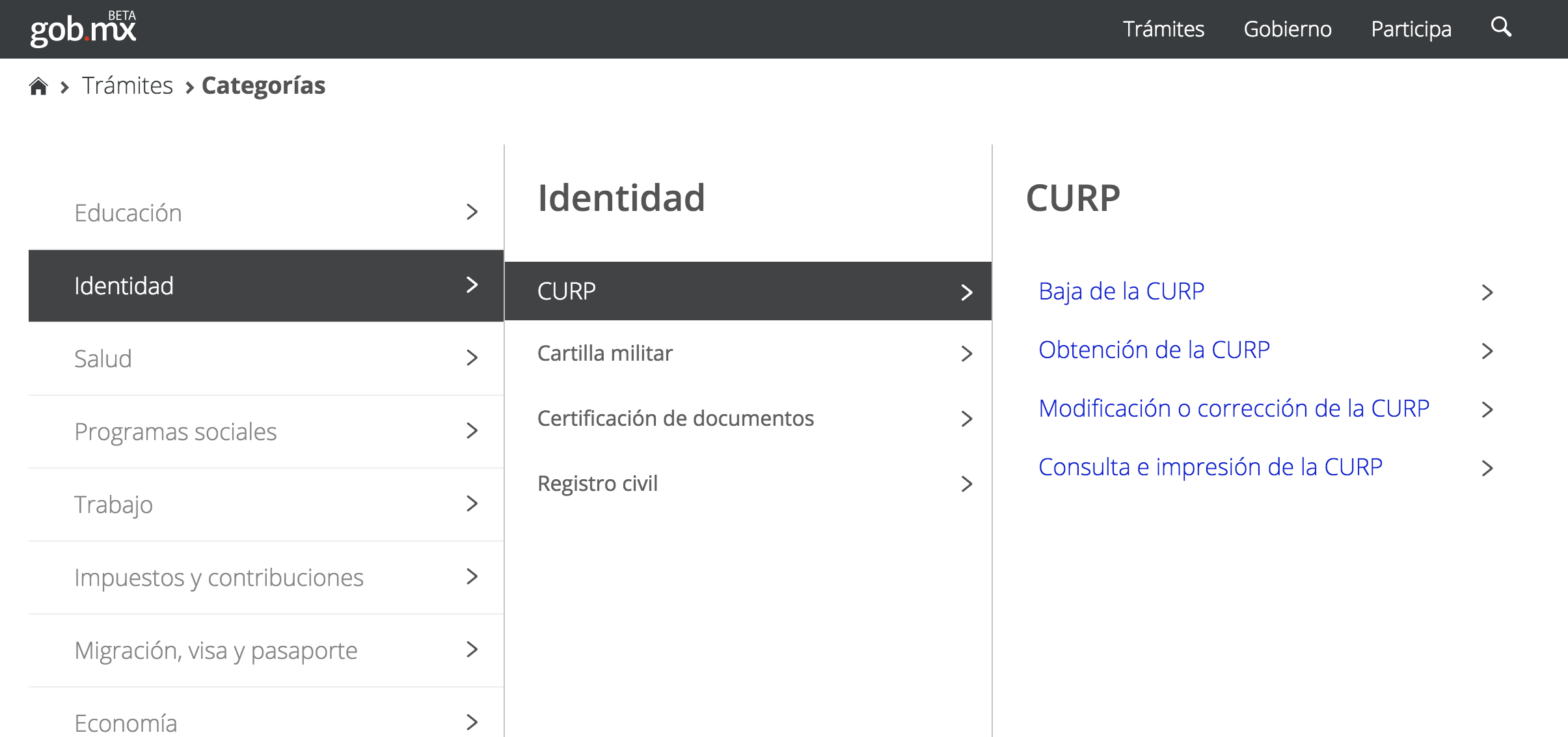 Clave única De Registro De Población Curp Secretaría De
