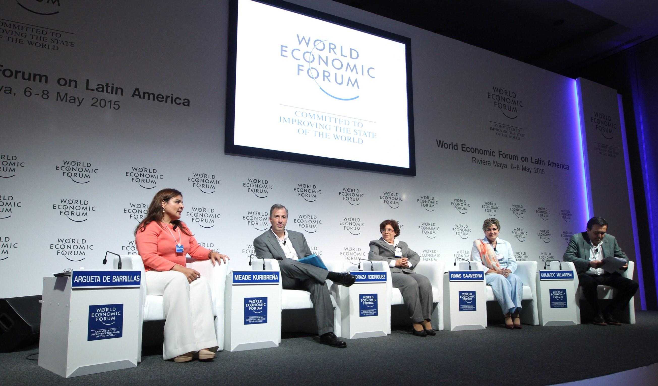 FOTO 1 Canciller Jos  Antonio Meade en el Foro Econ mico Mundial para Latinoam ricajpg