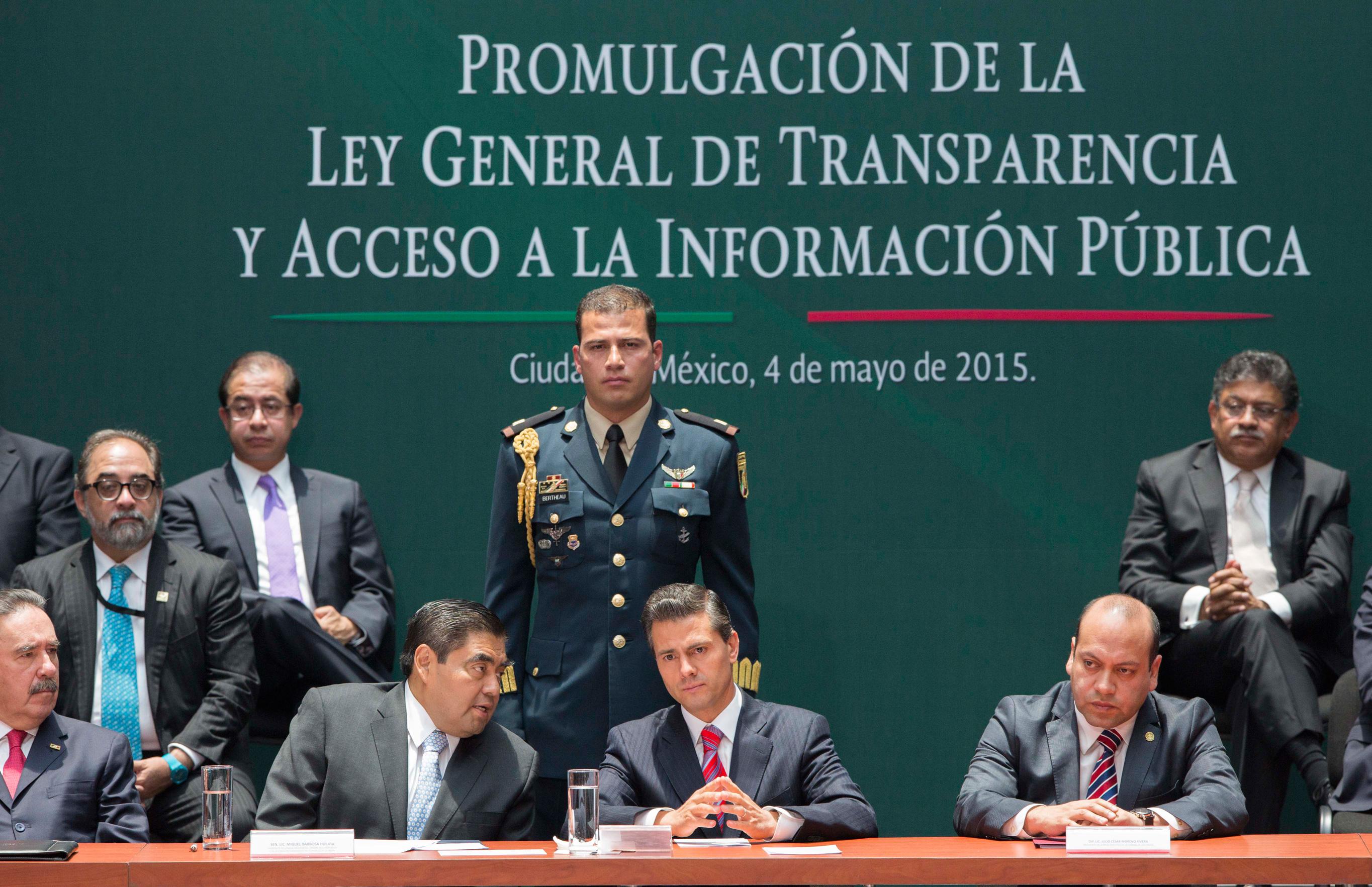 Promulgaci n de la ley general de transparencia y acceso a for Oficina de transparencia y acceso ala informacion