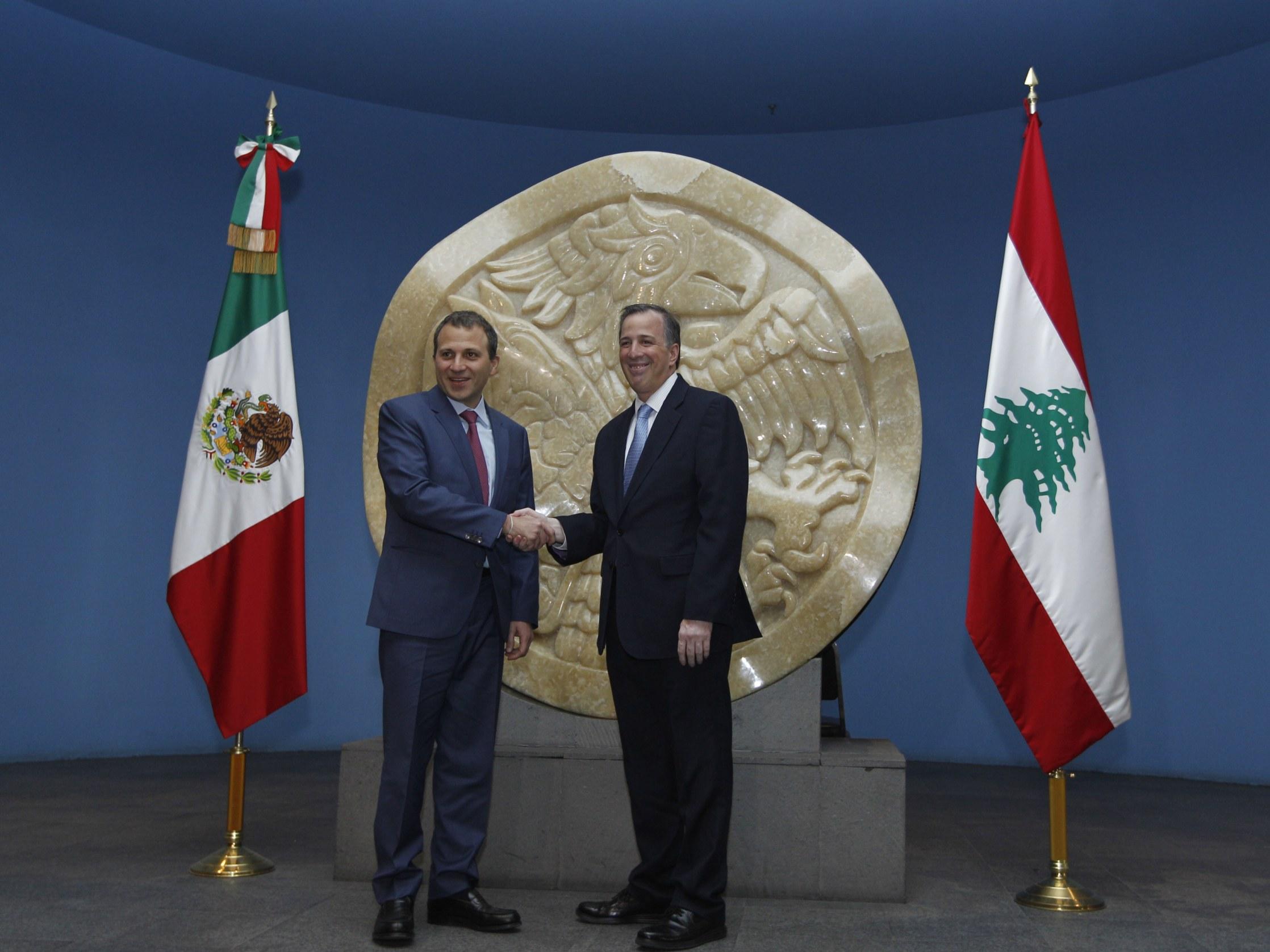 FOTO 3 El canciller Meade recibi  al ministro de Relaciones Exteriores y de Emigrantes de L bano  Gebran Bassiljpg
