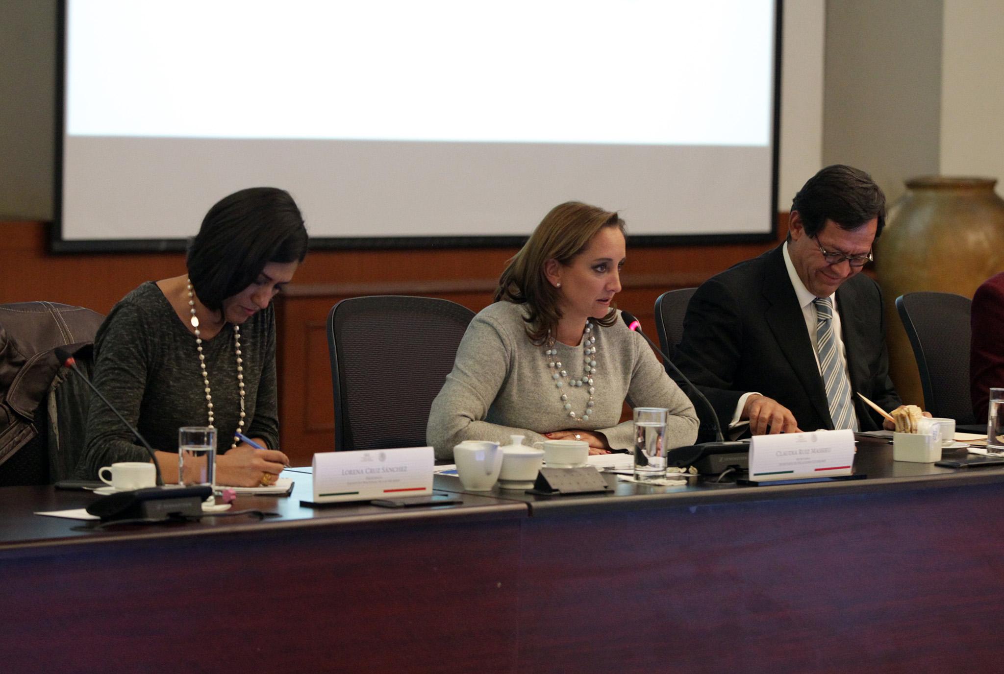 FOTO 1 Canciller Claudia Ruiz Massieu en la Reuni n de Coordinaci n Intersecretarial para Atenci n de Obligaciones en Materia de G nerojpg