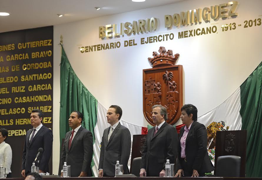 FOTO 1 El secretario Jos  Antonio Meade asisti  al tercer informe de gobierno de Manuel Velasco.jpg