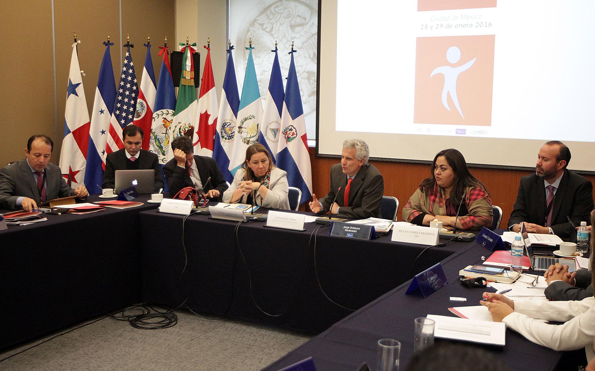 Carlos P rez Verd a y Reyna Torres en el Taller sobre atenci n consular para ni as  ni os y adolescentes migrantes no acompa adosjpg