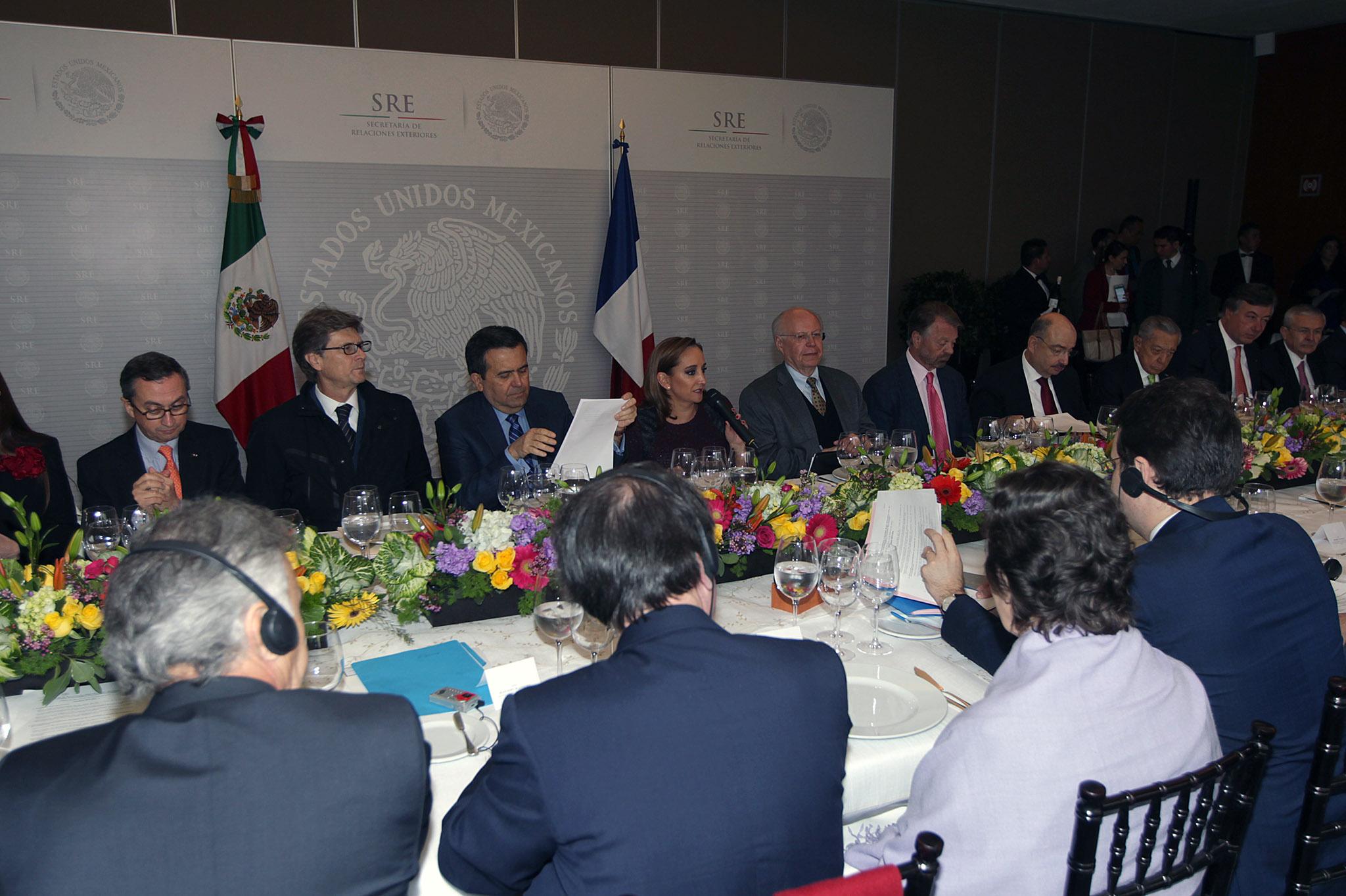 FOTO 4 Canciller Claudia Ruiz Massieu  encabez  la reuni n del Consejo Estrat gico Franco Mexicano.jpg