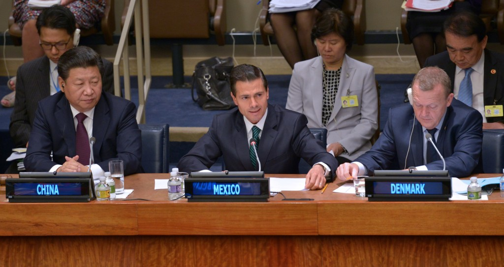 Presidente Enrique Peña Nieto en la 70 Asamblea General de la ONU (Foto: Presidencia de la República)