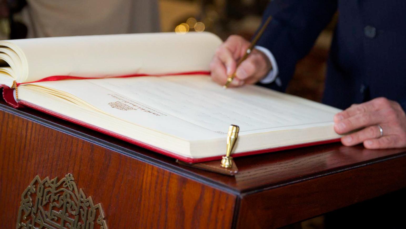 Firma de diversos acuerdos y memorándums en beneficio de México y Kuwait.  (Foto: Presidencia de la República)