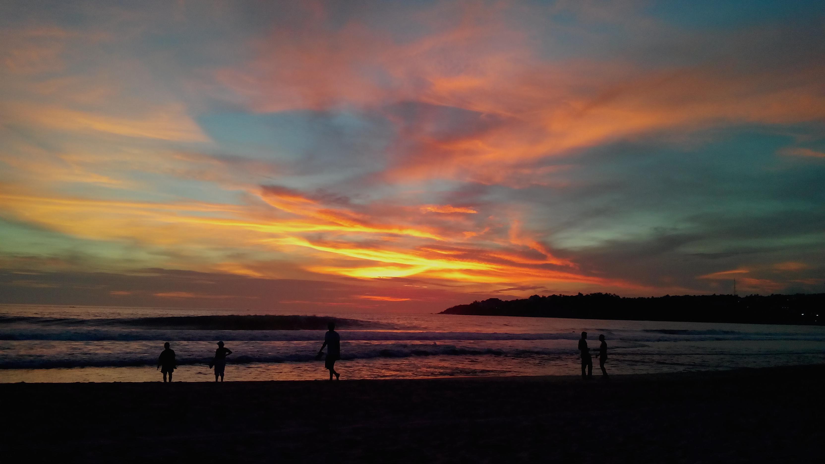 #Nuestro México: Atardecer en playa Zicatela