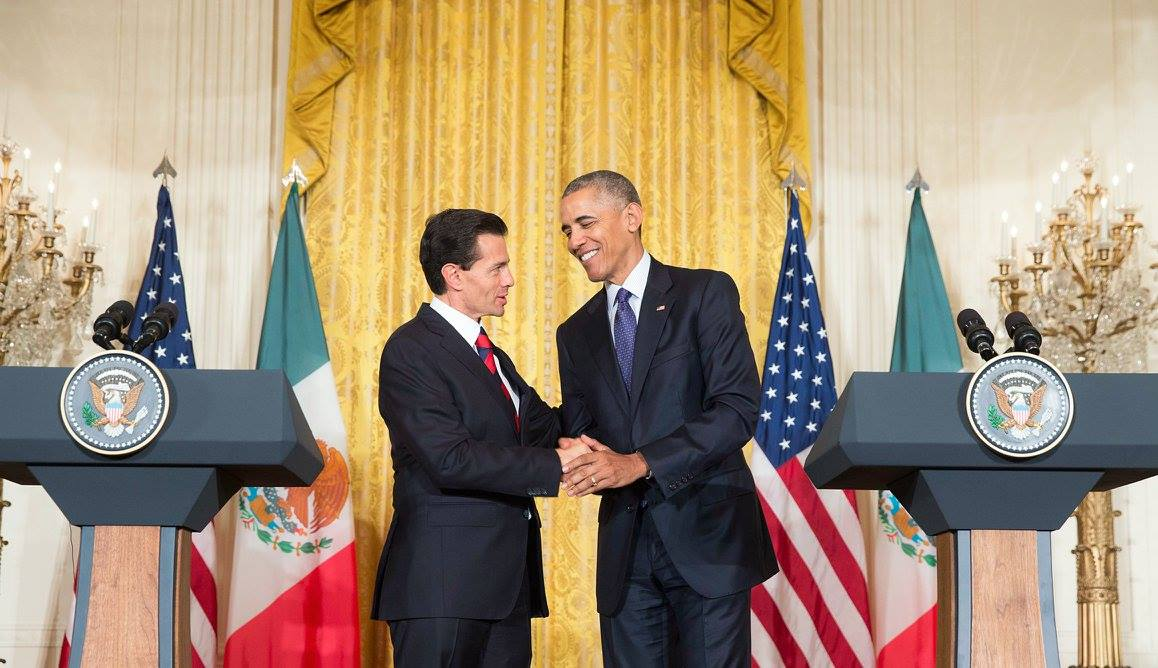 Presidente Peña Nieto y Presidente de EUA Barack Obama