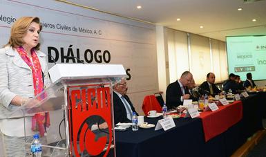 Arely Gómez González sostuvo diálogo con los Ingenieros Civiles de México