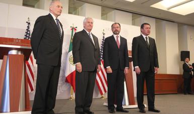 Concluye reunión de Alto Nivel entre México y los Estados Unidos de América