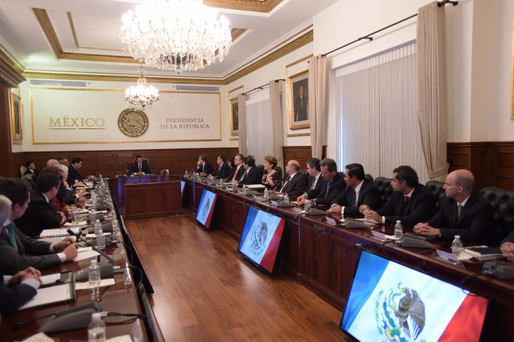 En la reunión participó el titular de la Secretaría de Desarrollo Agrario, Territorial y Urbano (SEDATU), Jesús Murillo Karam.