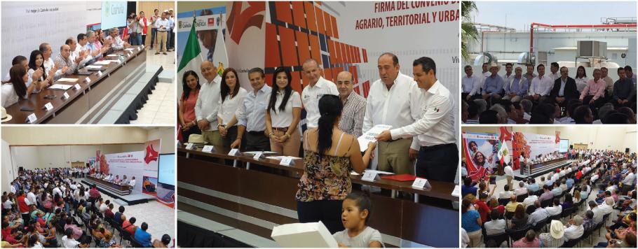 Murillo Karam resaltó que se trabaja para cumplir con los plazos establecidos y dar soluciones rápidas a la población afectada.