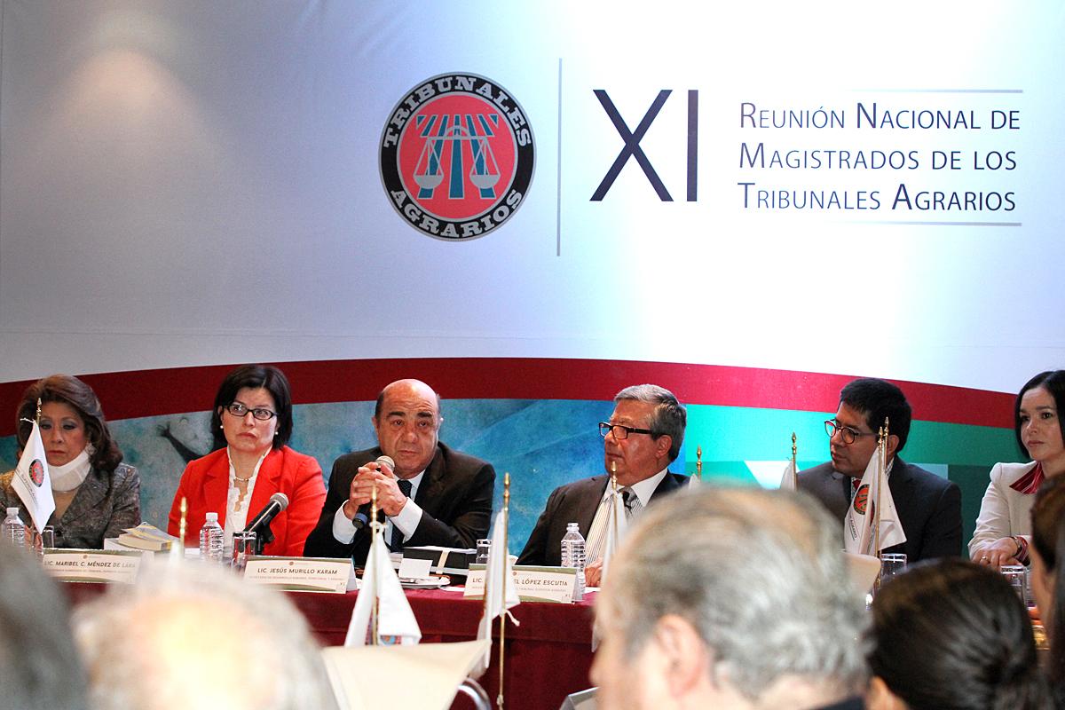 El titular de la SEDATU inaugura la XI Reunión Nacional de Magistrados de los Tribunales Agrarios, con la representación presidencial.