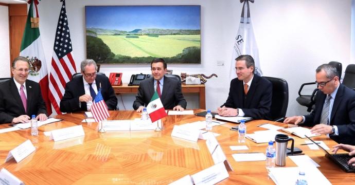 El Secretario Ildefonso Guajardo Villarreal se reunió con el Representante Comercial de Estados Unidos, Michael Froman