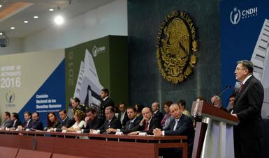 Luis Raúl González Pérez afirmó que durante 2016, desde el Ejecutivo Federal se dieron muestras claras de compromiso y convicción.
