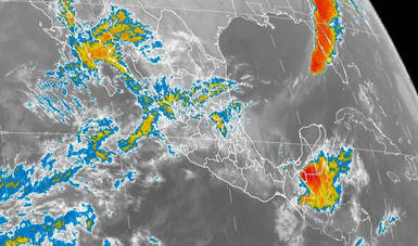 Para Veracruz, Chiapas y Tabasco se pronostican tormentas intensas durante la tarde de hoy