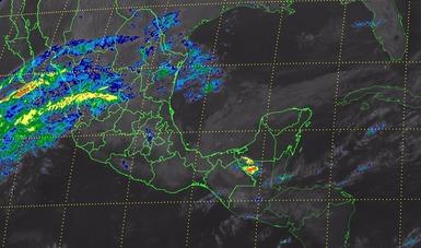Para hoy se pronostican tormentas muy fuertes con actividad eléctrica y granizadas en Veracruz, Tabasco y Chiapas