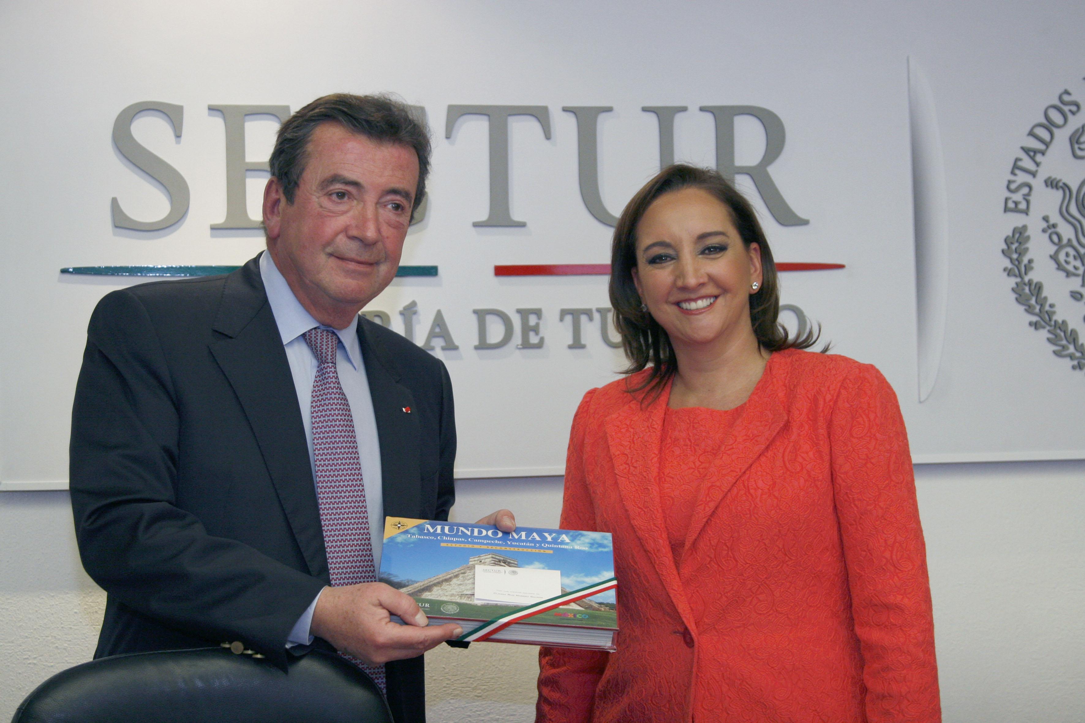 Sostiene Ruiz Massieu reunión bilateral con el Representante Especial del Gobierno francés para México y Copresidente del Consejo Estratégico Franco-Mexicano, Philippe Faure. Acuerdan conformar un grupo de trabajo de alto nivel en materia turística.