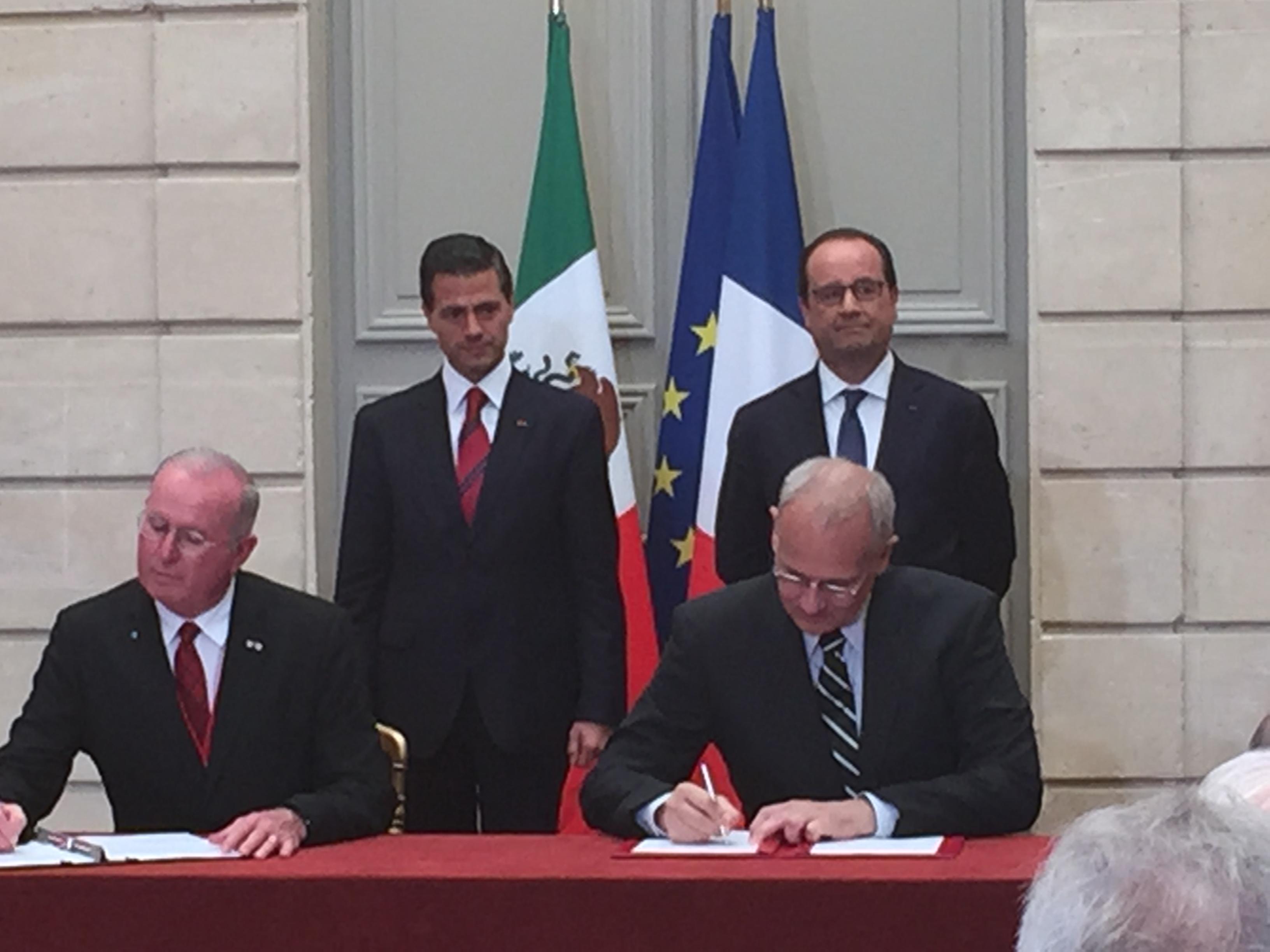 Firman cooperación espacial Francia México en pro del medio ambiente, clima y océanos