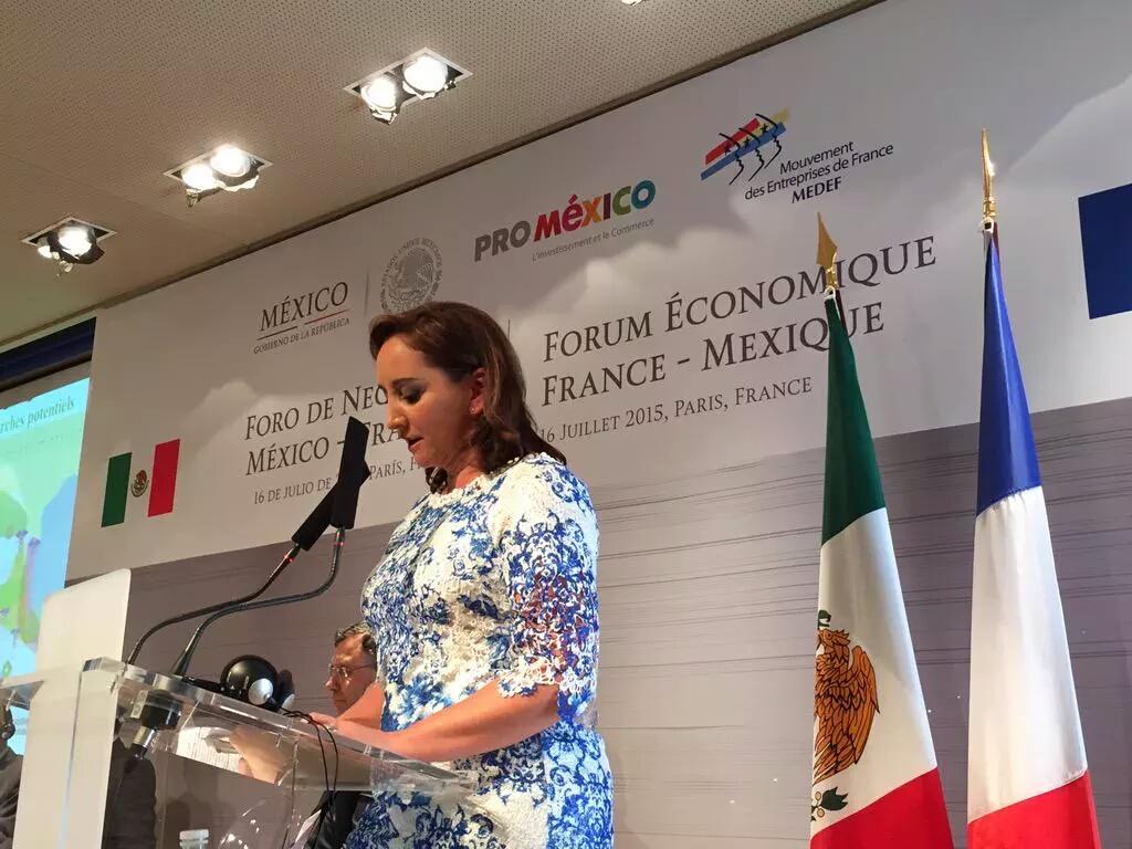 Secretaria Claudia Ruiz Massieu, titular de SECTUR