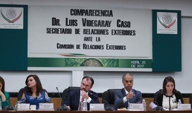 Comparecencia del Secretario de Relaciones Exteriores, Luis Videgaray ante la Comisión de Relaciones Exteriores de la Cámara de Diputados