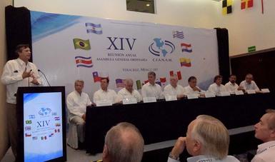 El Coordinador General de Puertos y Marina Mercante participó en la XIV Reunión Anual de la Asamblea General de la Cámara Interamericana de Asociaciones Nacionales de Agentes Marítimos (CIANAM).