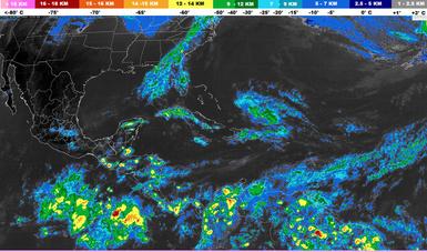 Para la noche de hoy se prevén tormentas muy fuertes en regiones de Chiapas