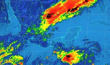 Tormentas torrenciales se pronostican para hoy, en regiones de Puebla, Veracruz, Tabasco, Oaxaca y Chiapas