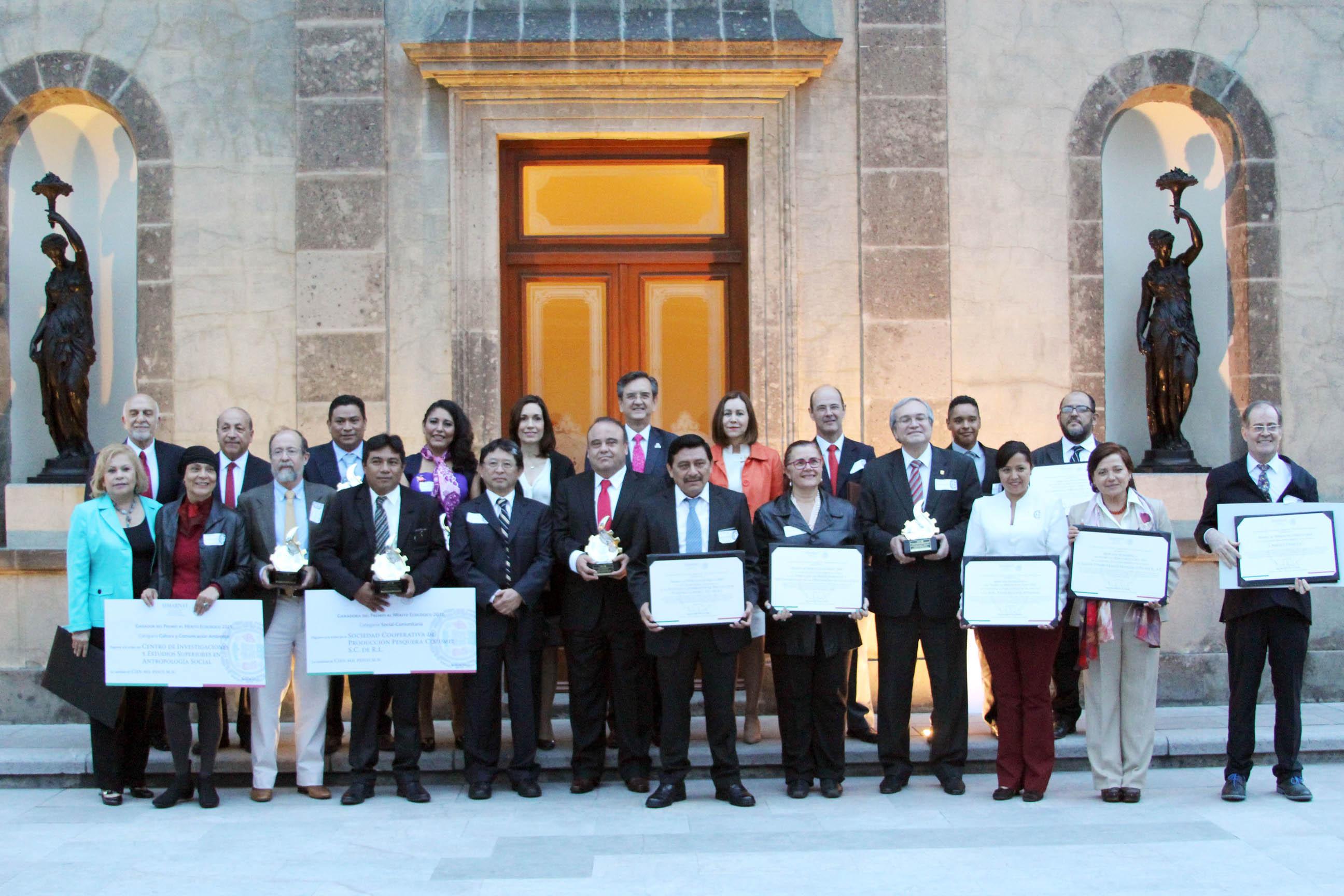 Galardonados del Premio al Mérito Ecológico