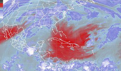 Se pronostican tormentas intensas para Chiapas, Tabasco y el sur de Veracruz, debido a la depresión tropical Adrian