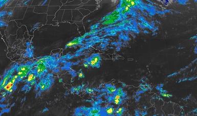 Tormentas intensas, se prevén hoy en zonas de Oaxaca y Chiapas y tormentas muy fuertes en sitios de Guerrero.