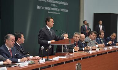 El Primer Mandatario encabezó la reunión de la CONAGO en la que se anunciaron distintas acciones por la libertad de expresión y para la protección de periodistas y defensores.