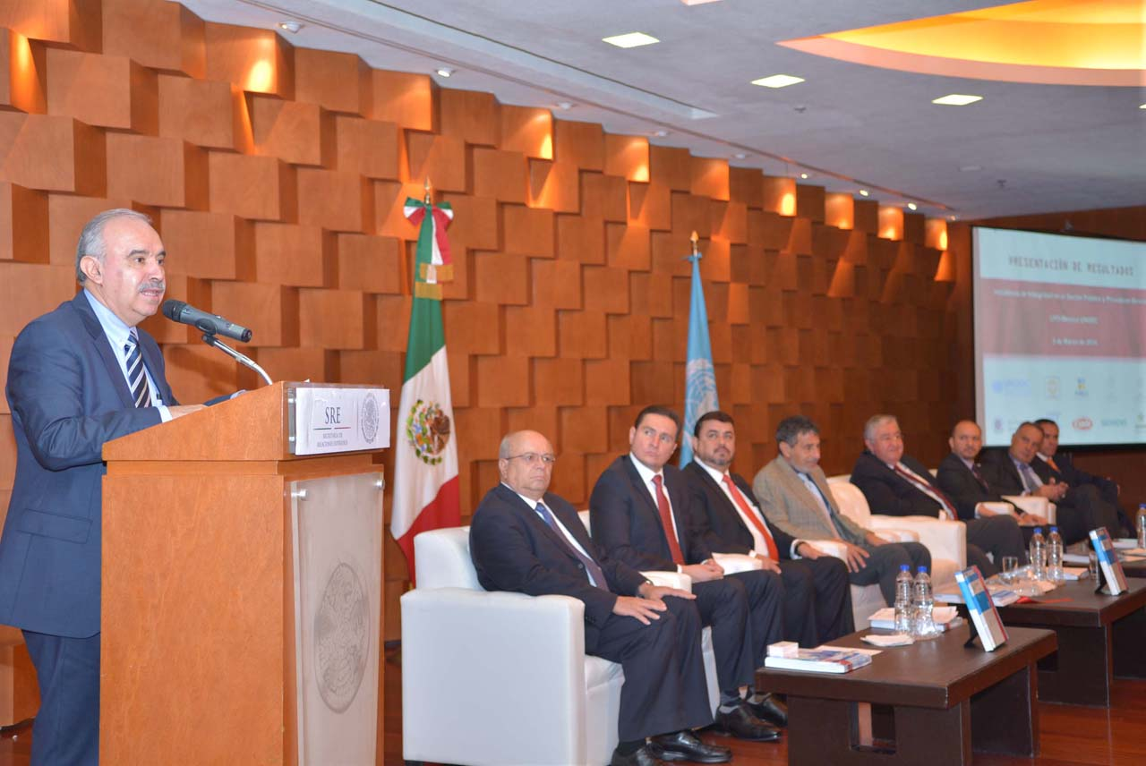 Participación del Encargado del Despacho de la Secretaría de la Función Pública, Julián Olivas Ugalde, en la Entrega de Productos- Iniciativas de Integridad, organizado por la Oficina de las Naciones Unidas contra la Droga y el Delito.