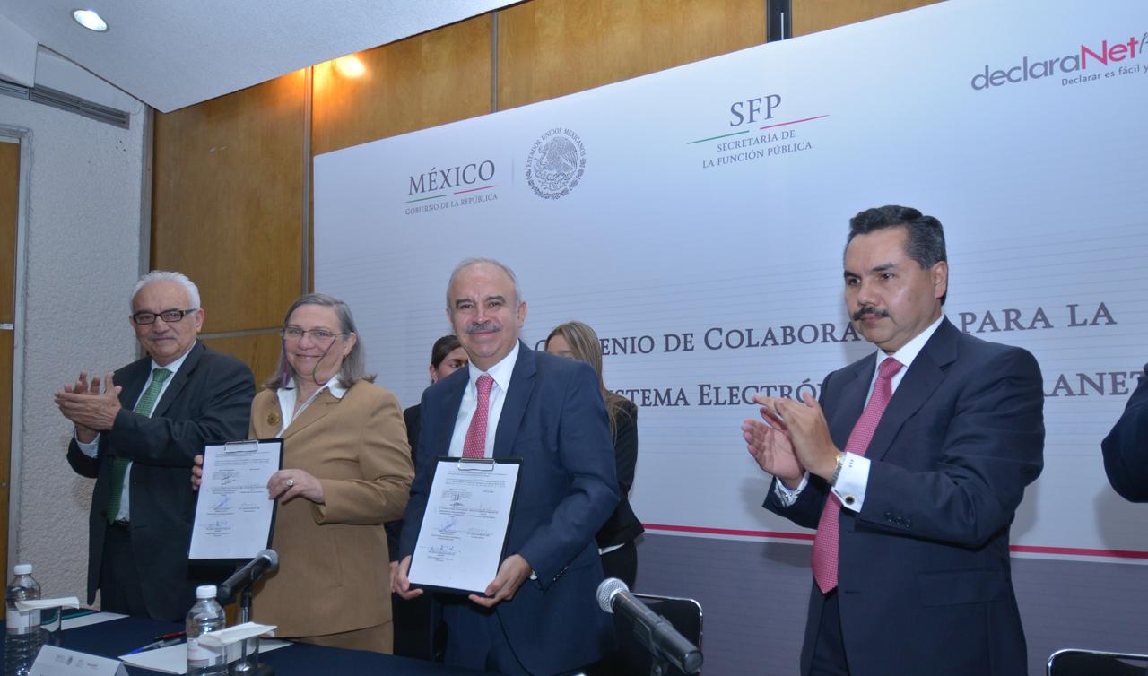 Gilberto Guevara Niebla, Sylvia Schmelkes del Valle, Julián Olivas Ugalde y Javier Vargas Zempoaltecatl.