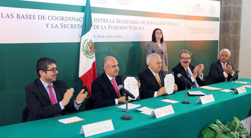 César Osuna Gómez, Julián Olivas Ugalde, Emilio Chuayffet Chemor, Fernando Serrano Migallón y Francisco Cervantes Pérez.