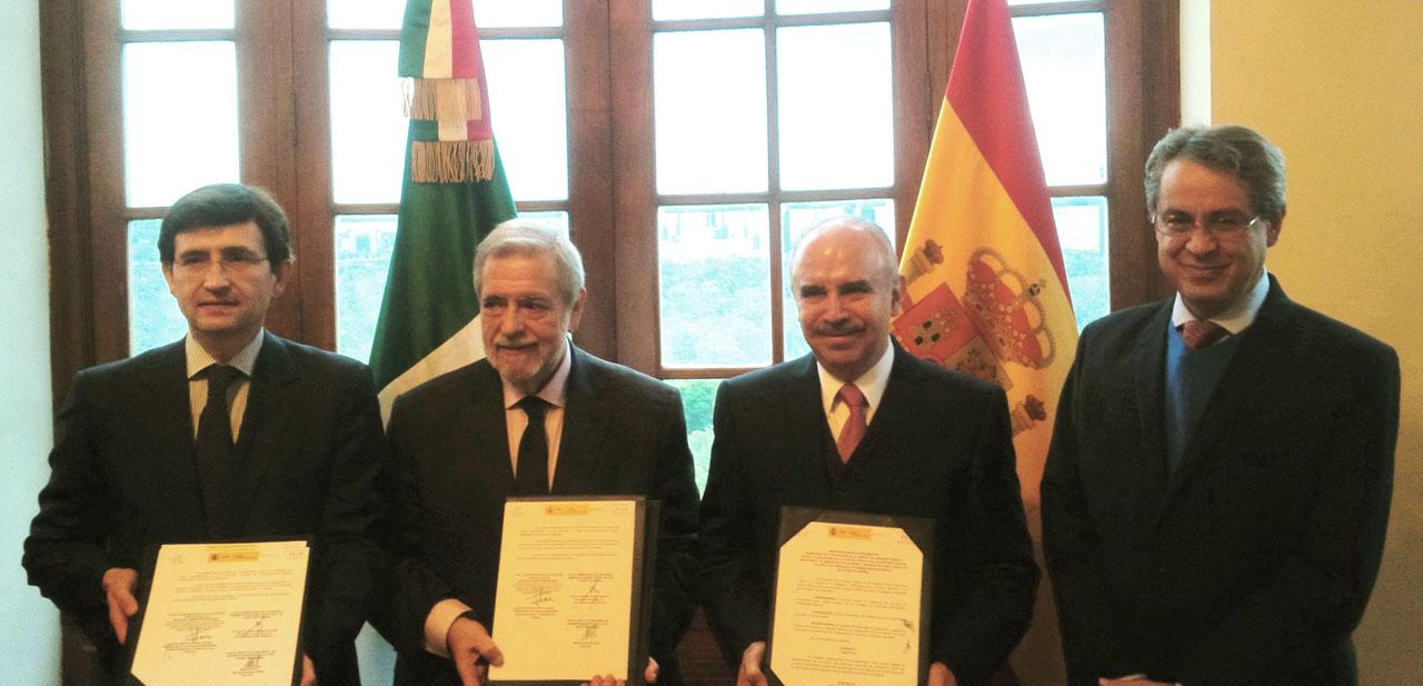 Manuel Arenilla Sáez, Antonio Germán Beteta Barreda, Julián Olivas Ugalde y Alejandro Negrín Muñoz.
