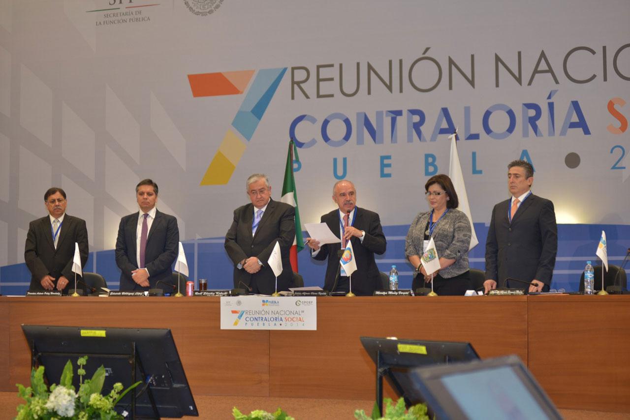 Inauguración de la 7ª Reunión Nacional de Contraloría Social.