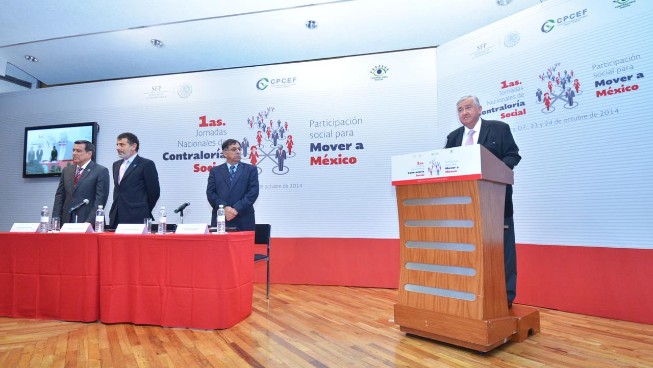 Clausura de las Primeras Jornadas Nacionales de Contraloría Social.