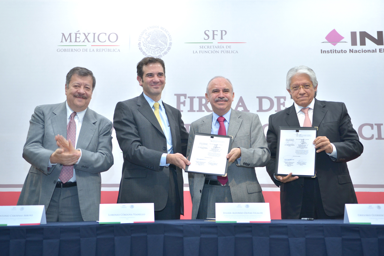 Antonio Cárdenas Arroyo, Lorenzo Córdova Vianello, Julián Olivas Ugalde y Gregorio Guerrero Pozas.