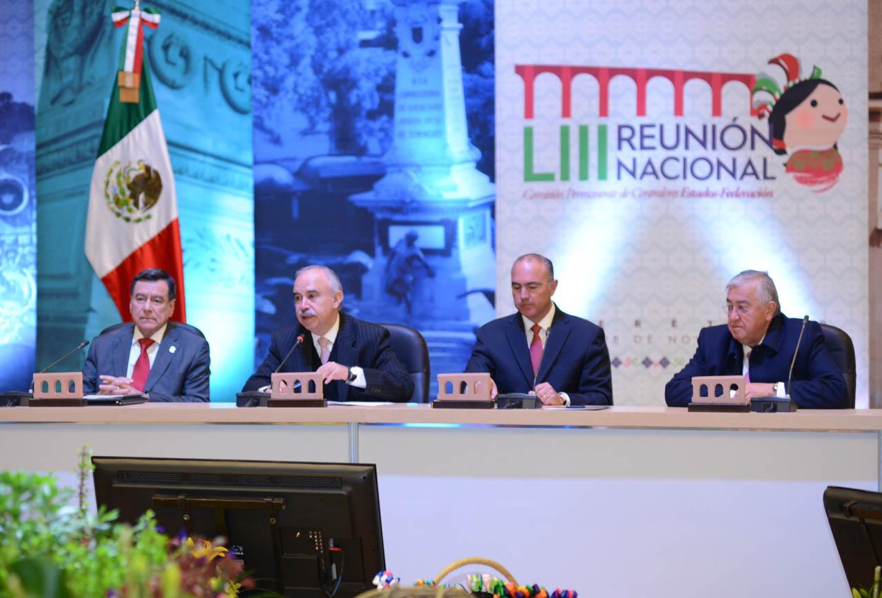 Juan Gorráez Enrile, Julián Olivas Ugalde, José Calzada Rovirosa y Raúl Sánchez Kobashi.
