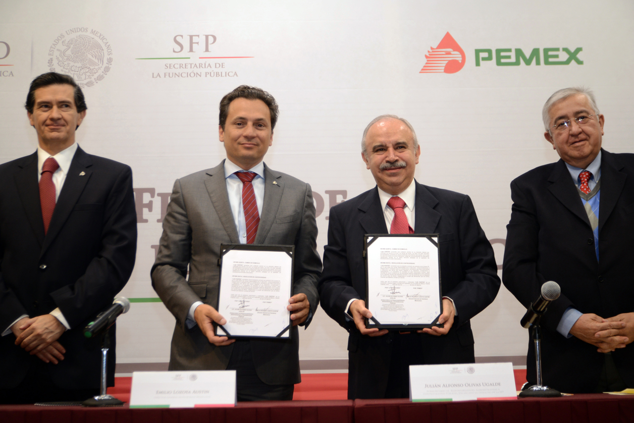 Victor Díaz Solís, Emilio Lozoya Austin, Julián Olivas Ugalde y Raúl Sánchez Kobashi.