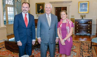 Se reúne el Canciller Videgaray con el Secretario de Estado de los EUA y la Ministra de Relaciones Exteriores de Canadá
